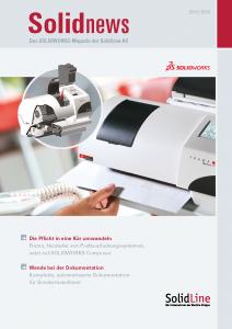 solidnews 2014-15 SOLIDWORKS Kundenmagazin der SolidLine
