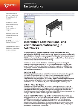 Datenblatt Tacton Design Automation