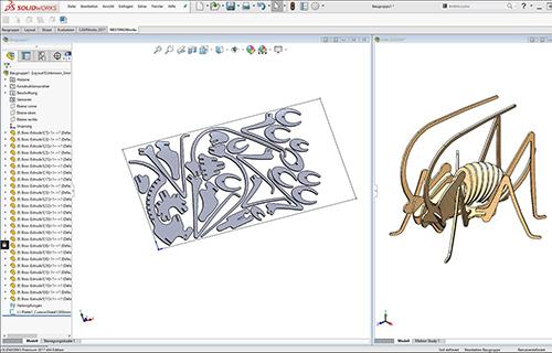 NESTINGWorks Automatische Anordnung Screenshot