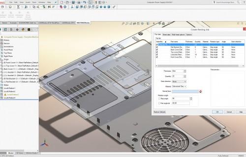 NESTINGWorks Anordnung Teile unterschiedlicher Stärke Screenshot