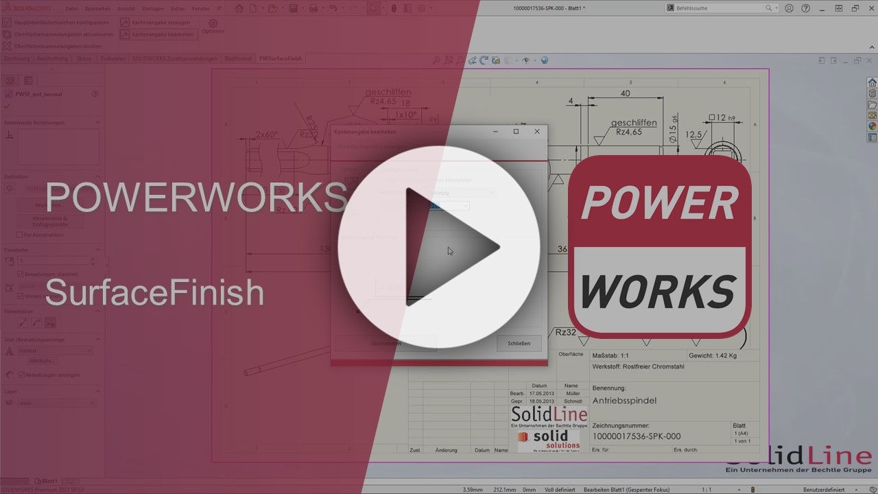 POWERWORKS SurfaceFinish Video