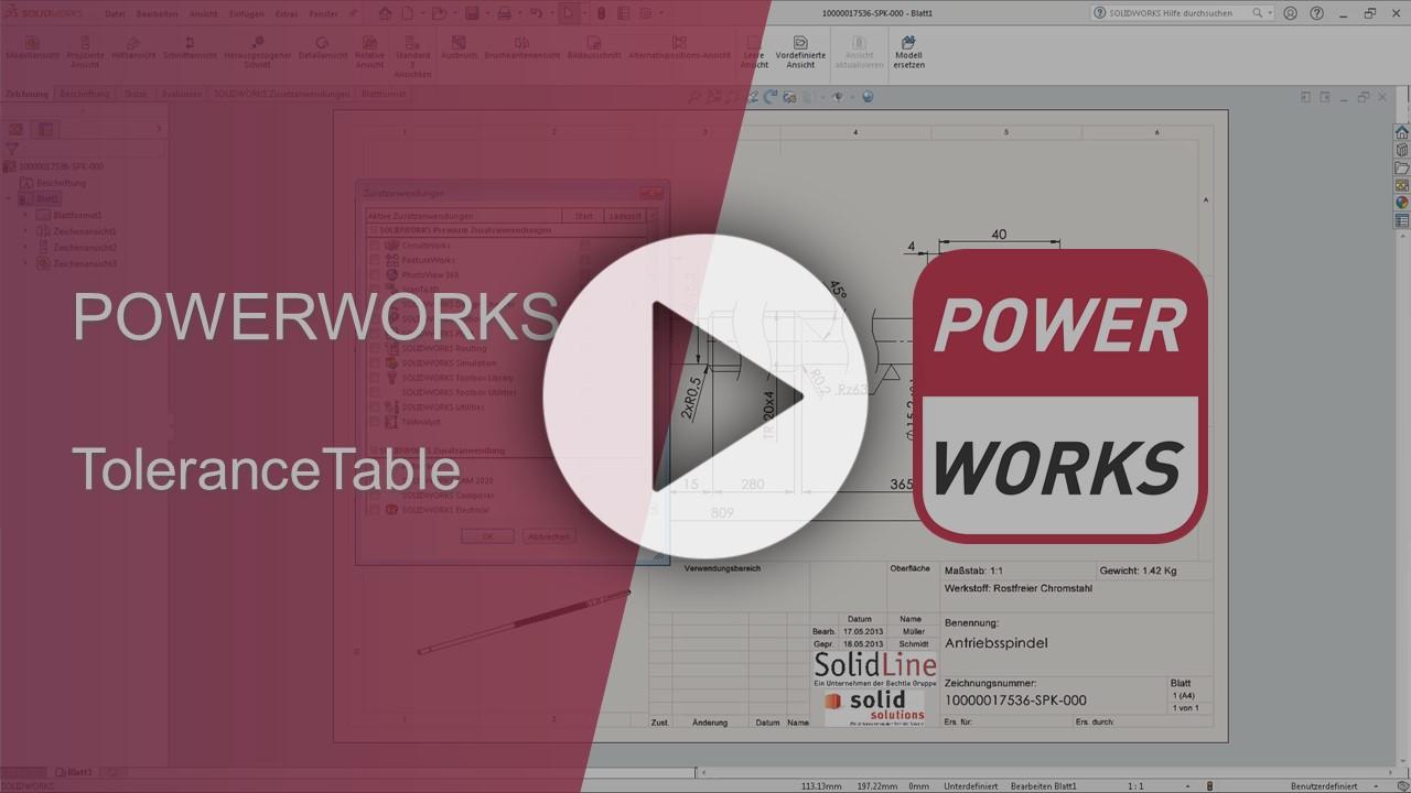 POWERWORKS ToleranceTable Video