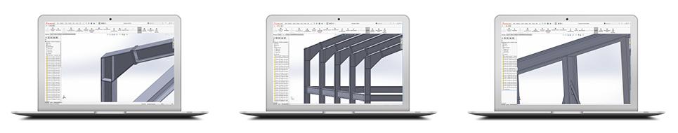 Konstruktion im Stahlbau mit SolidSteel parametric