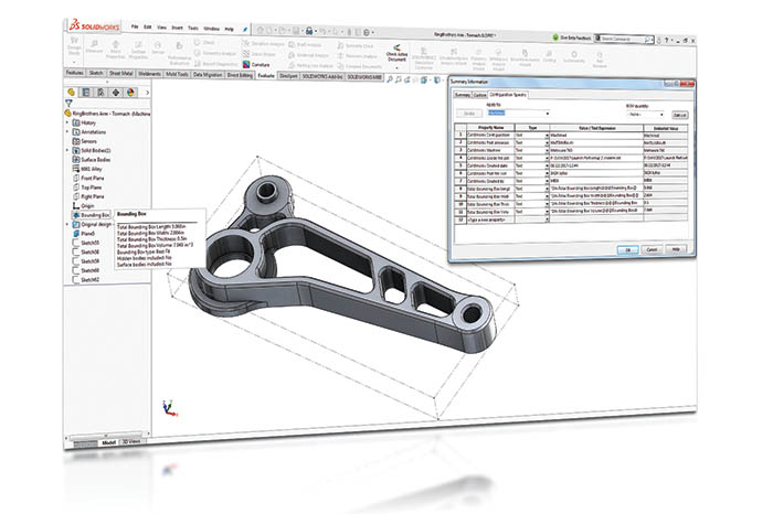 SOLIDWORKS 2018 3D-CAD Top 10 Neue Funktionen Bounding Box