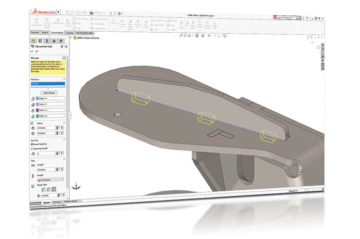 SOLIDWORKS 2018 3D-CAD Top 10 Neue Funktionen Tab and Slot