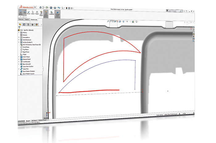 SOLIDWORKS 2018 3D-CAD Top 10 Neue Funktionen Touch Sketch