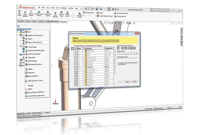 SOLIDWORKS 2018 Simulation Top10 Neue Funktionen Import