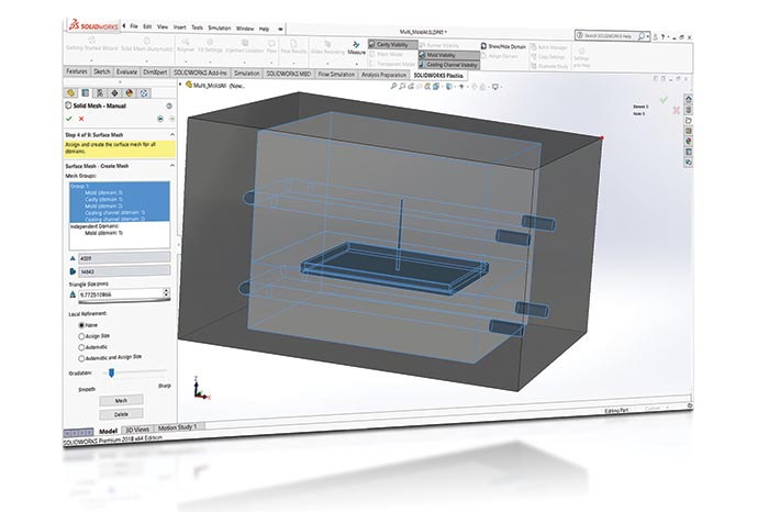 SOLIDWORKS 2018 Simulation Top10 Neue Funktionen New Mesh UI