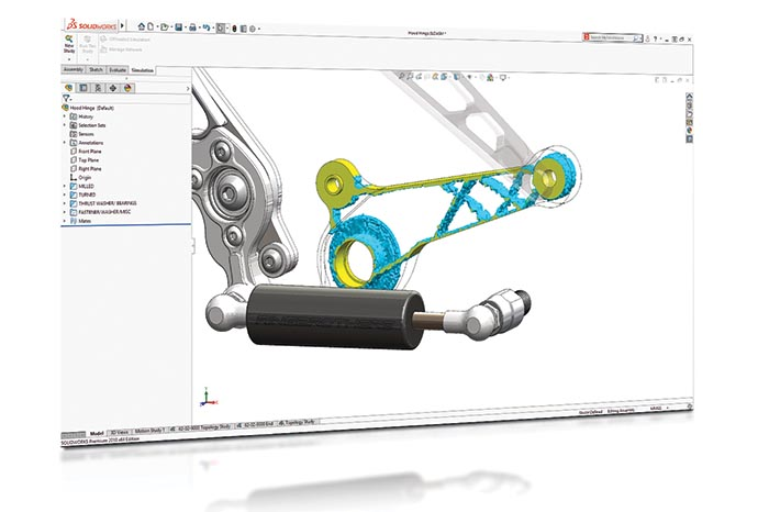 SOLIDWORKS 2018 Simulation Top10 Neue Funktionen Topology Study