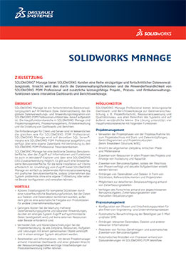Vorschau Datenblatt SOLIDWORKS Manage