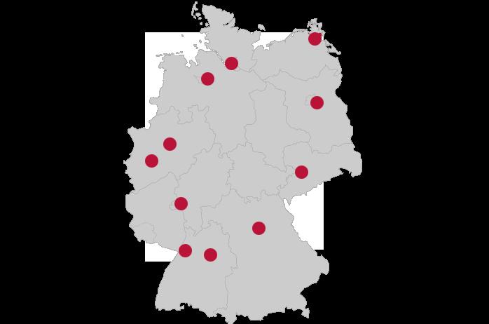 SolidLine AG: 11 Standorte Deutschland