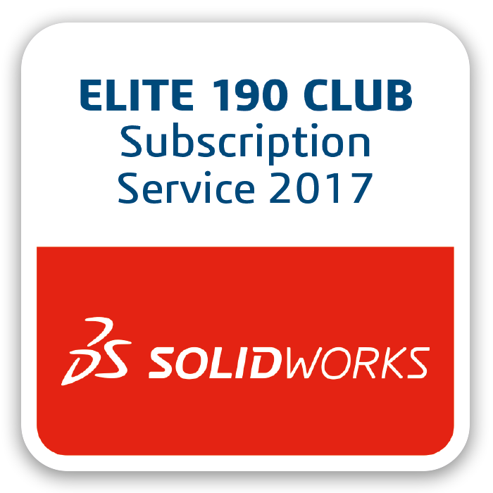 SOLIDWORKS Zertifizierung Elite Club 190 Award