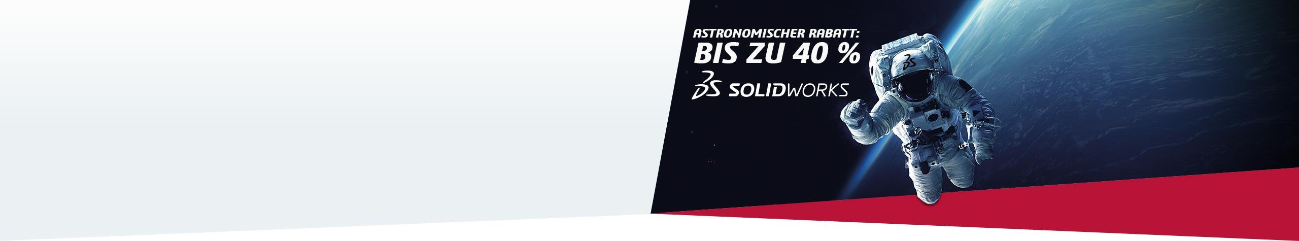 SOLIDWORKS Aktion Astronomische Rabatte – bis zu 40% auf SOLIDWORKS Lösungen.