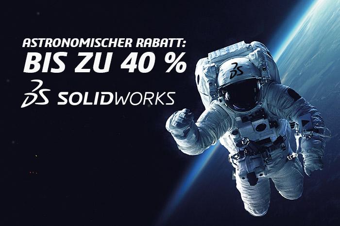 Astronomische Rabatte – bis zu 40% auf SOLIDWORKS Lösungen.