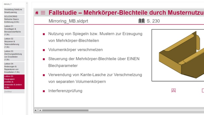 SolidLine SmartLearning Beispiel-Inhalt Refresher