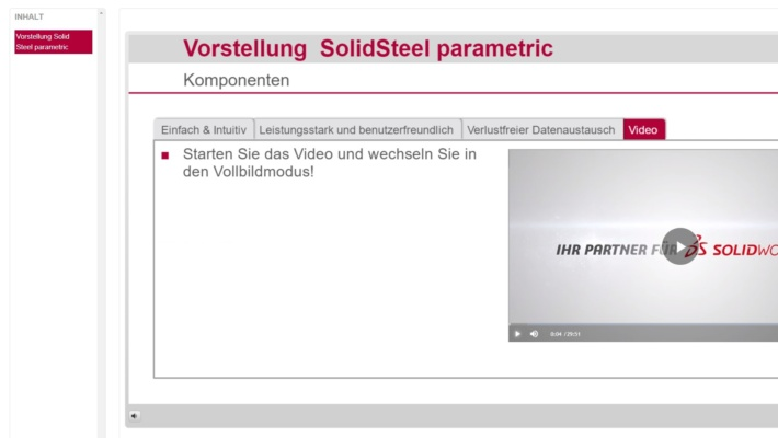 SolidLine SmartLearning Beispiel-Inhalt Video