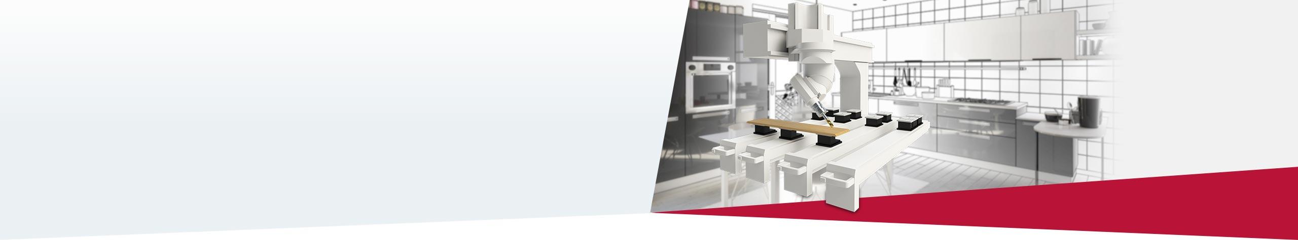 SOLIDWORKS und SWOOD Die CAD- und CAM-Anwendung für die holzverarbeitende Industrie.