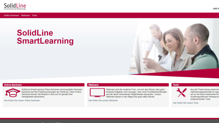 SolidLine SmartLearning Startseite