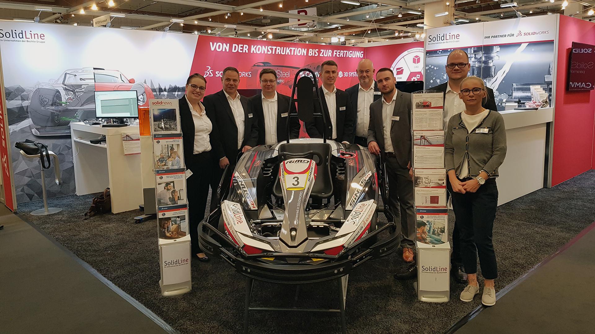 Das Team der SolidLine, C-CAM und Klietsch auf der FMB Bad Salzuflen 2018