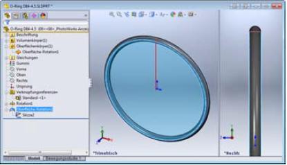 Verknüpfungsreferenzen Bauteile O-Ringe