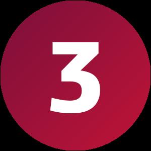 Kreis 3 SolidLine rot