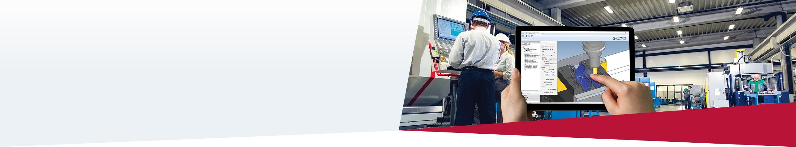 CAMWorks ShopFloor Papierlose Fertigung in der zerspanenden Fertigung.