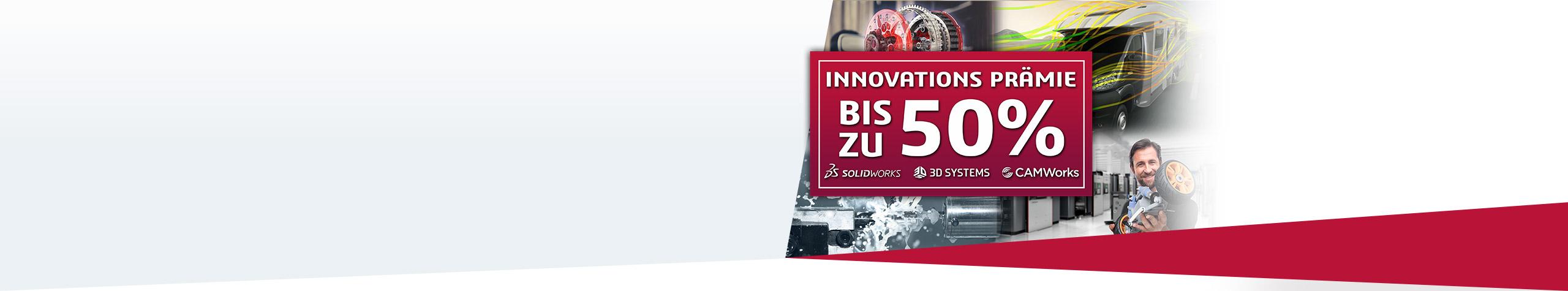 Innovations-Prämie bis zu 50% Aktion: Nur bis 30. September! Zur Aktion