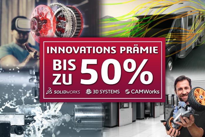 Innovations Prämie bis zu 50%