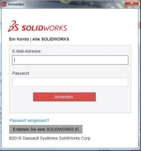 SOLIDWORKS QuickStartGuide Anmelden