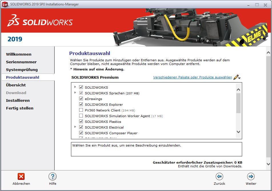 SOLIDWORKS QuickStartGuide Produktauswahl