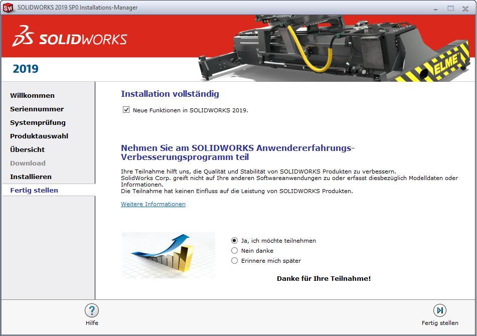 SOLIDWORKS QuickStartGuide Installation vollständig