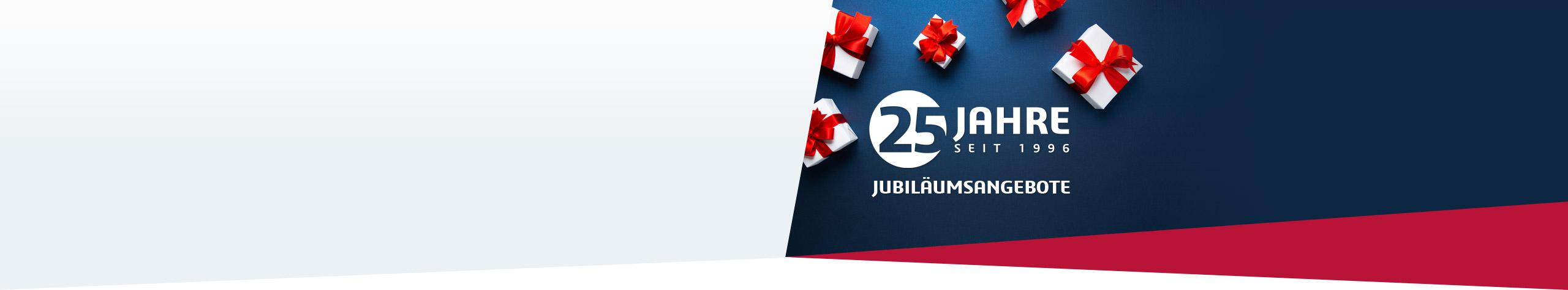 Jubiläumsangebote Feiern Sie mit uns und profitieren Sie von attraktiven Angeboten!