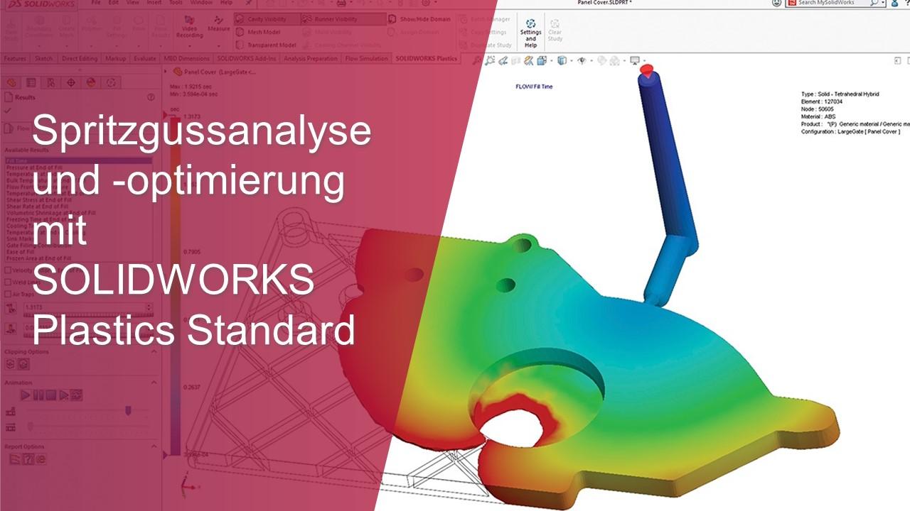 Spritzgussanalyse und -optimierung mit SOLIDWORKS Plastics Standard-thumb